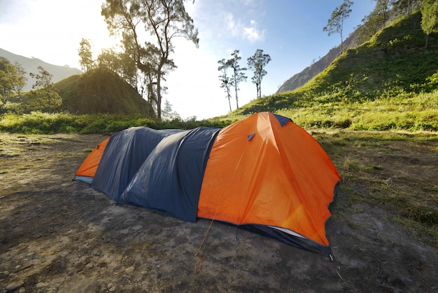 Morning on campsite to rinjani