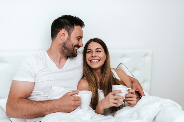 Morning coffee in bed.