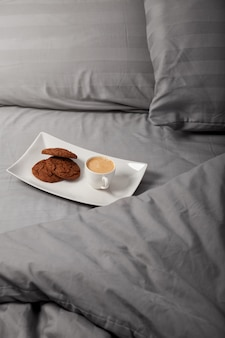 Morning coffee in the bed