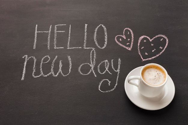 Утренний кофе на столе