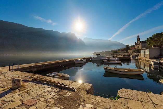 Morning in kotor bay.