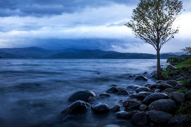 Morning light of lake toya hokkaido one of most popular travel destination in hokkaido japan