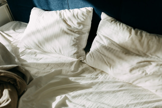 Morning light on the pillows