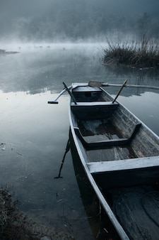 Morning mist in the boat