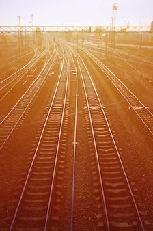 Morning railway landscape