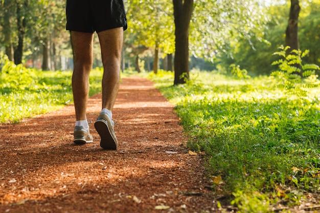 Morning run at the park