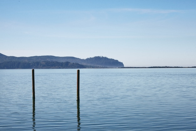 Morning scenery of the famous nehalem bay in central oregon