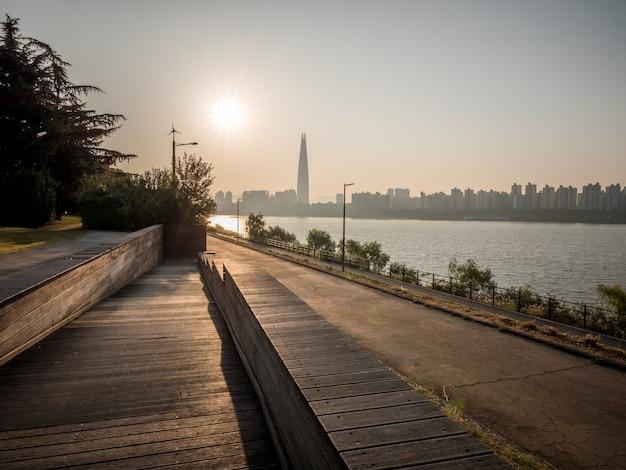 서울에서 아침 일출