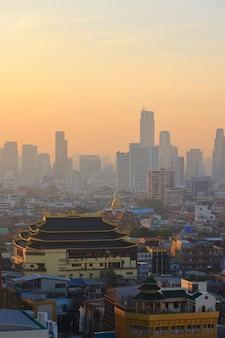 아침 시간 yaowarach 또는 방콕 차이나 타운 지역