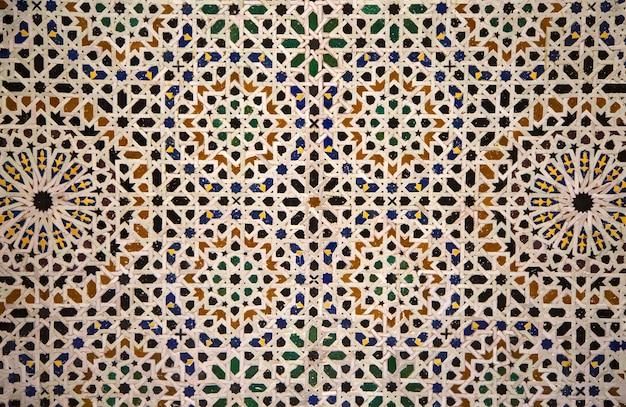 モロッコのセラミックモザイク