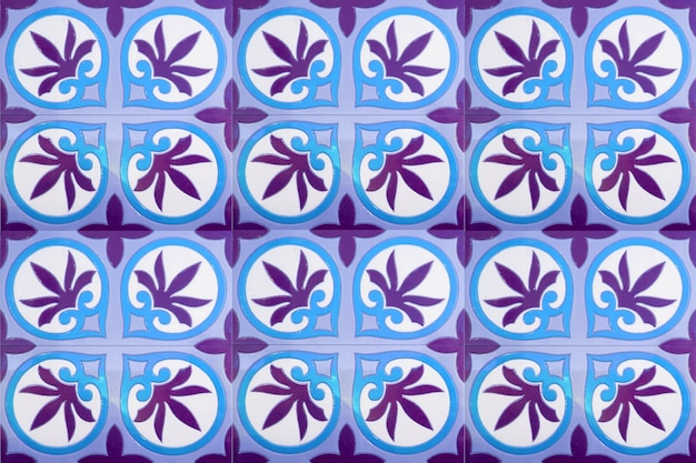 Moroccan tile pattern background.colorful vintage ceramic tiles wall decoration