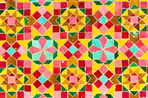 Moroccan tiles with traditional arabic patterns, ceramic tiles patterns