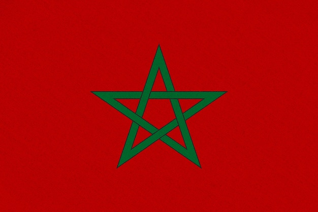 Morocco fabric flag