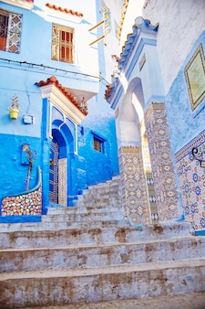 Morocco is the blue city of chefchaouen