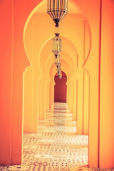 Morocco lamp architecture