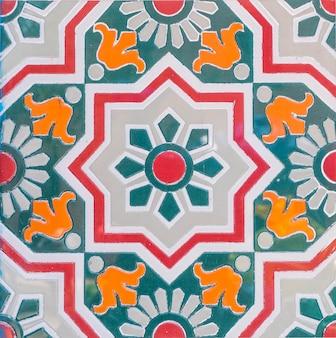 モロッコのタイルの背景