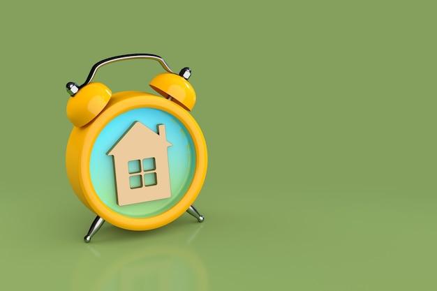 住宅ローン、リマインダー、達成および期限の概念。 3dレンダリング