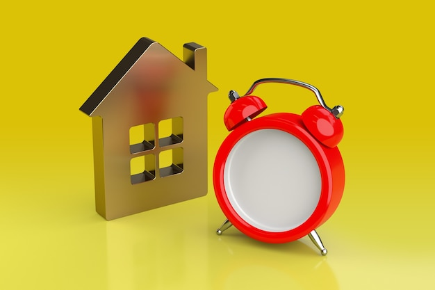 Mortgage, reminder, achievement and deadline concept. 3d rendering