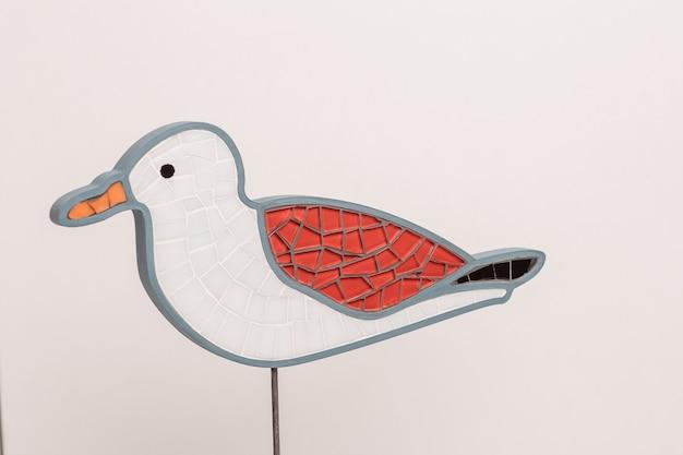 モザイク鳥カモメ。手作りの装飾面白いアイデア。