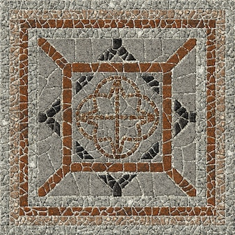 Mosaic made of natural granite. decorative stone tiles. , floor and walls. stone background texture