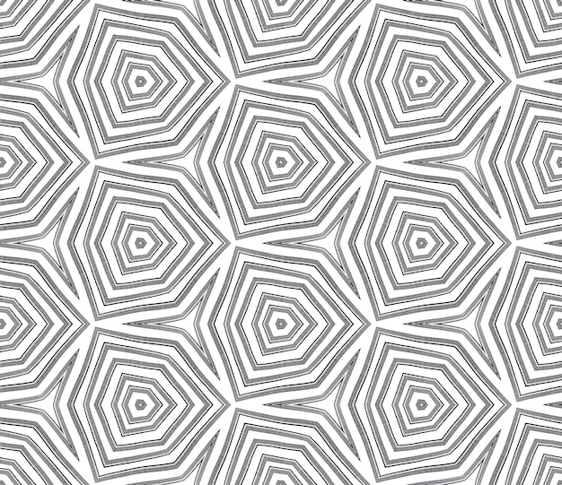 Mosaic seamless pattern. black symmetrical kaleidoscope background. retro mosaic seamless design. textile ready brilliant print, swimwear fabric, wallpaper, wrapping.