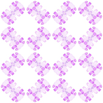 モザイクのシームレスなパターン。紫の意外な自由奔放に生きるシックな夏のデザイン。手描きの緑のモザイクのシームレスな境界線。テキスタイルレディキュートプリント、水着生地、壁紙、ラッピング。
