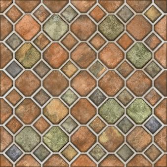 Mosaic stone floor