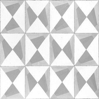 Mosaic tiles of grey and white colors