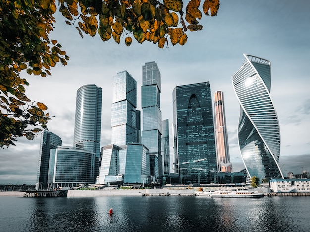 Moscow city. moscow international business center, russia.