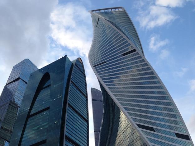 모스크바 도시의 고층 빌딩