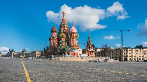 Moscow. red square. saint basil's cathedral. the cathedral of the protection of most holy theotokos on the moat