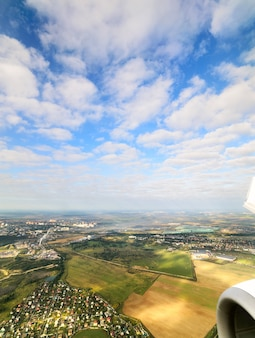 Moscow region. plane view from a great height.