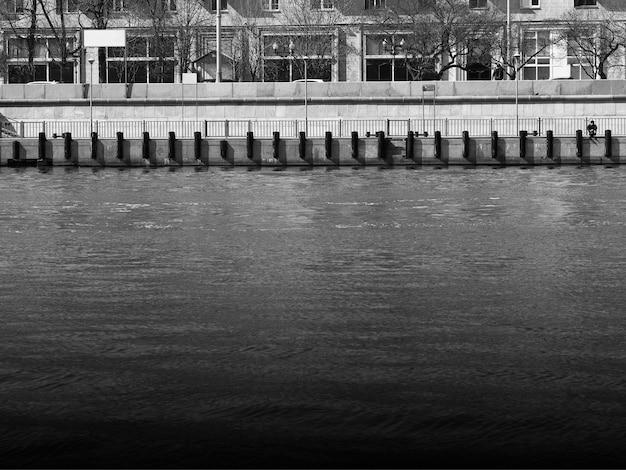 モスクワ川の堤防建築の背景