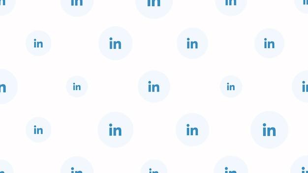 Москва, россия - 9 декабря 2019 г .: иконки социальной сети linkedin на простом фоне. элегантный и роскошный динамичный стиль для делового, корпоративного и социального шаблона