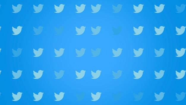 Москва, россия - 9 декабря 2019 г .: иконки социальной сети twitter на простом фоне. элегантный и роскошный динамичный стиль для бизнеса, корпоративного и социального шаблона, 3d иллюстрация