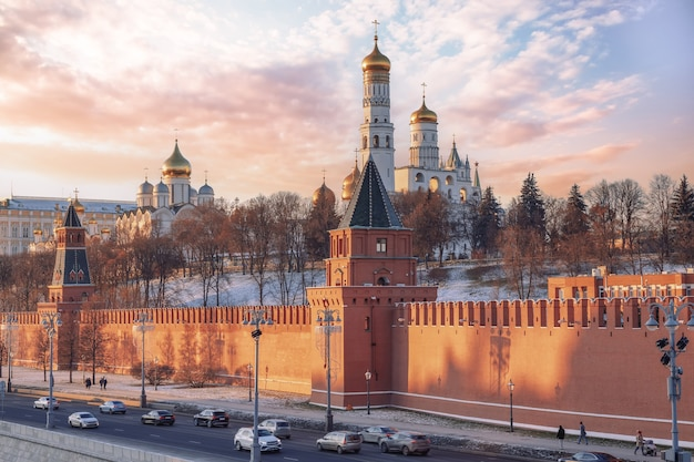 Moscow russia view of the moscow kremlin
