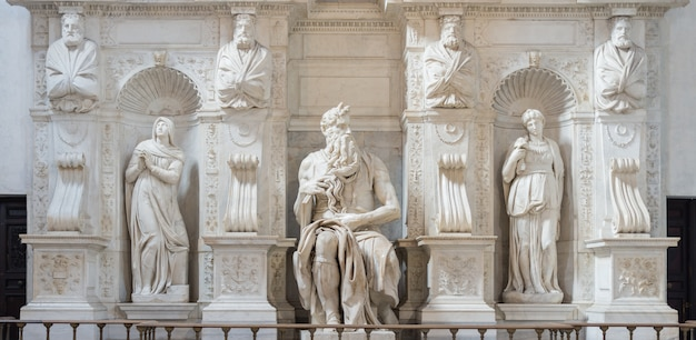 The moses by michelangelo, rome, italy