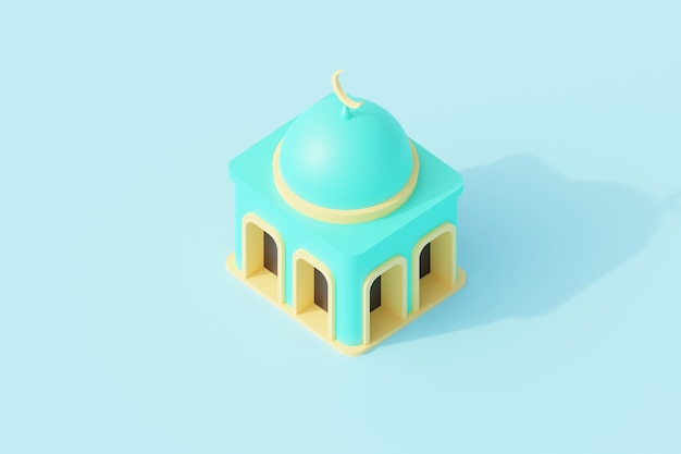 Здание мечети для молитвенного места исламской религии.