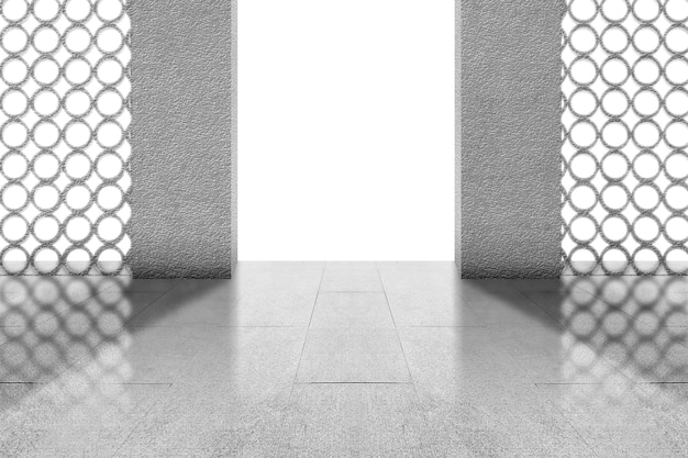 白い背景で隔離のモスクのドア