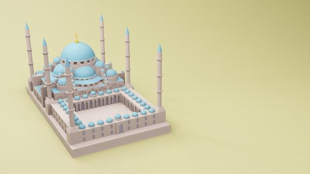 모스크 이슬람 디스플레이 3d 그림 3d 렌더링