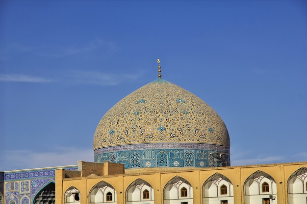 Mosque on naqsh-e jahan square in isfahan, iran