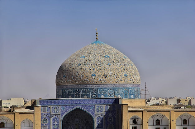 Mosque on naqsh-e jahan square in isfahan iran