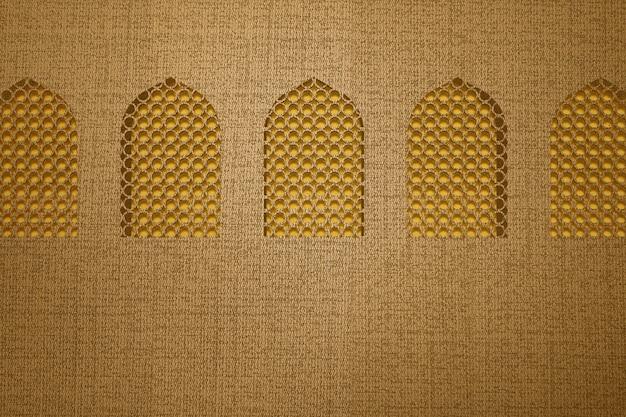 Окно мечети с текстурированным фоном