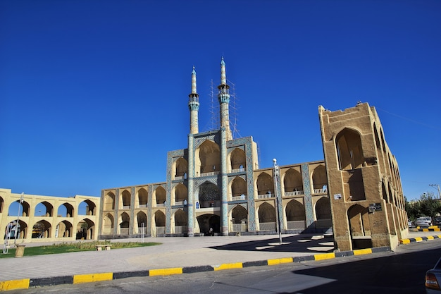 The mosque in yazd city iran