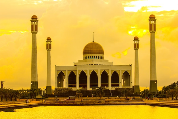 Mosques ,wonderful muslim temple with twilight time.