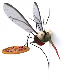 蚊の3 dイラストレーション