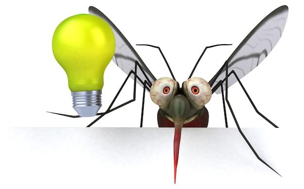 Комар - 3d иллюстрации