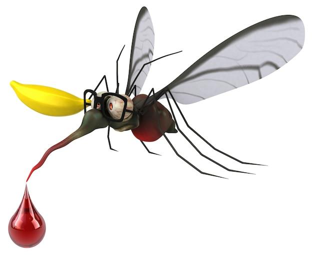 Комар 3d иллюстрация