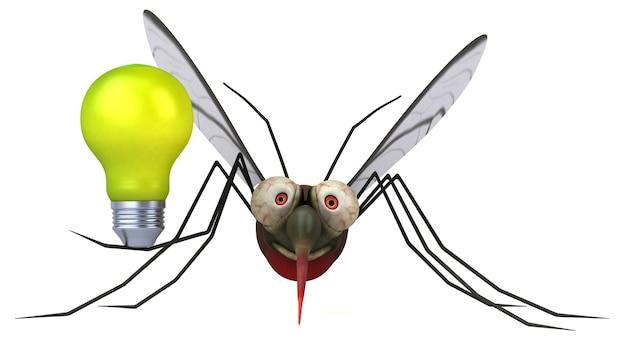 Mosquito 3d illustrazione