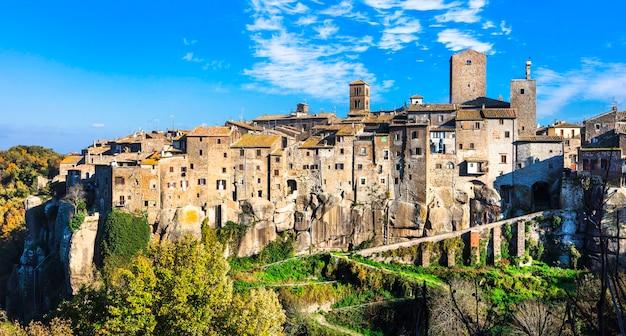 Самые красивые средневековые деревни италии - виточиано, построенный на скалах (провинция витербо)